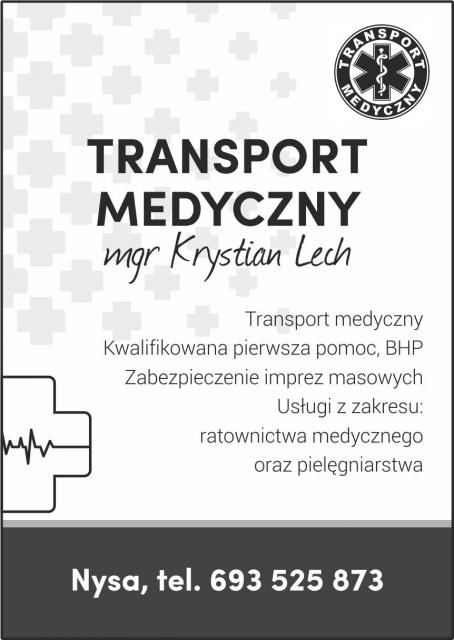 Ogłoszenie TRANSPORT MEDYCZNY MGR KRYSTIAN LECH