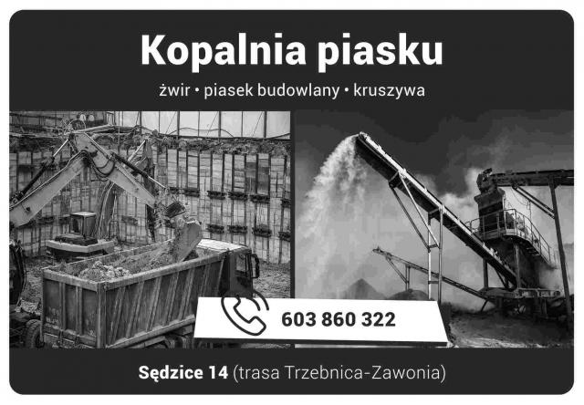 kopalnia piasku sędzice żwir piasek kruszywa w naszym trzebnickim informatorze