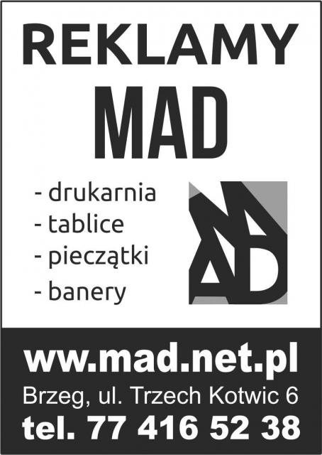 Mad Brzeg Agencja Reklamowa Drukarnia Kasetony Tablice Wizytówki