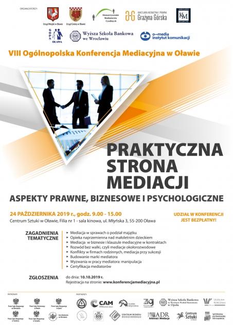 Plakat Konferencji - Praktyczna strona mediacji