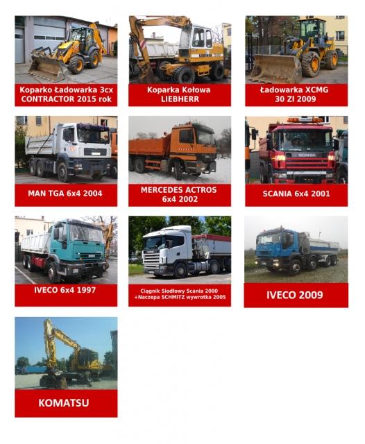usługi transportowe Cichosz sprzęt