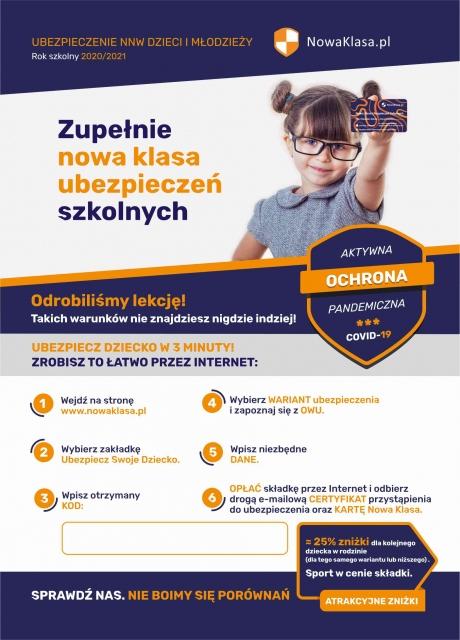 ubezpieczenie nww dzieci i młodziezy rok szkolny 2020/21