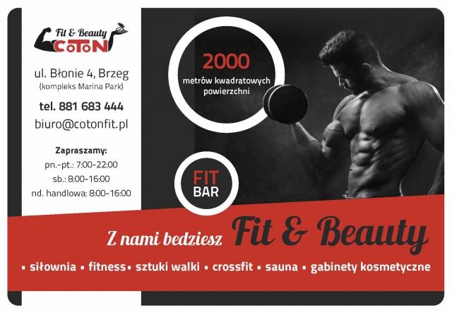 ogłoszenie w informatorze Brzeskim - Coton Fit&Beauty Brzeg